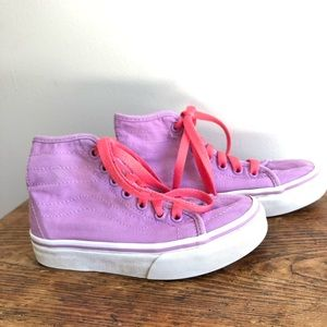 Youth VANS high top sneakers purple lace up 12.5
